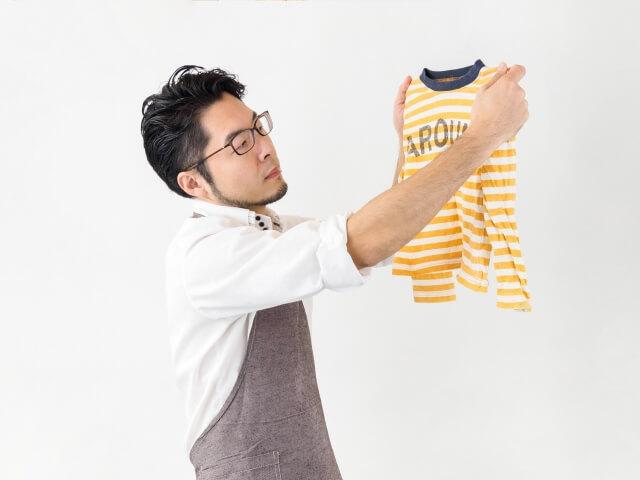 自ら洗濯する夫