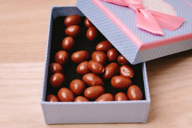 チョコレートが入った箱